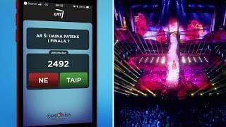 """Stebėk """"Euroviziją"""" su programėle """"Balsuok"""". Ką manai tu? - LRT © 2018 -  LRT © 2018"""
