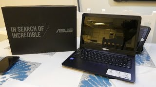 ASUS EeeBook E402NA 14 Inch Unboxing