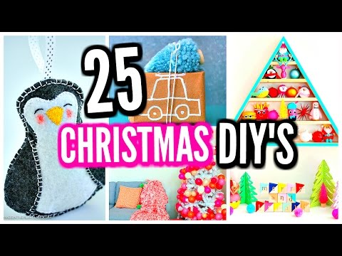 25 DIY Christmas Decorations! DIY Room Decor Ideas & Projects!