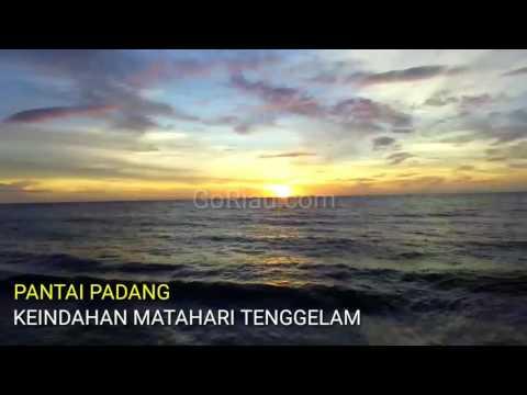 Video: Kerennya Penampakan Matahari Tenggelam di Pantai Padang Dilihat dari Udara
