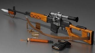 Снайперская винтовка Драгунова (СВД) /  Dragunov sniper rifle военные