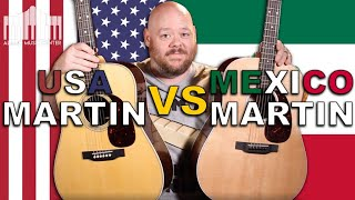 Made In The USA Martin D-28 Vs. Made In Mexico Martín D-13E | Whats The Difference?