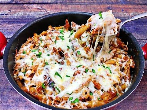 Chicken Parmesan Pasta Skillet – Italian Pasta Recipe