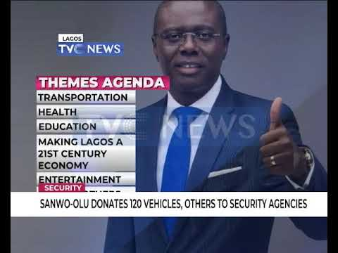 Sanwo-Olu donates 100 vehicles, others to Security Agencies