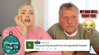 READING HATE COMMENTS WITH MY DAD | Vlogmas Day 18