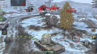 World Of Tanks Blitz - KV-2 Does Well In Tier 8 Game