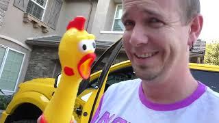 Crushing Stuff with My Dad's Giant Yellow Tonka Truck!!!