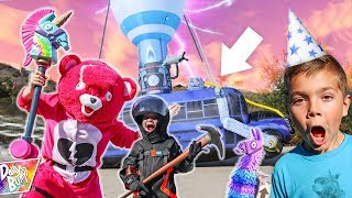 Fortnite Battle Bus CRASHES at Birthday Party! 💥