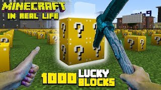 Realistic Minecraft - 1000 Lucky Block Challenge! - Lucky Block Mod Minecraft In Real Life Animation