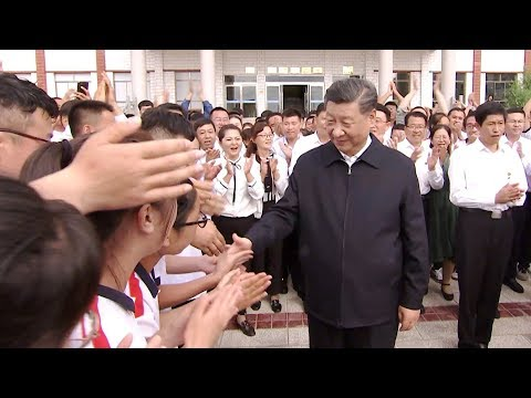 President Xi Jinping makes inspection tour in NW China's Shandan