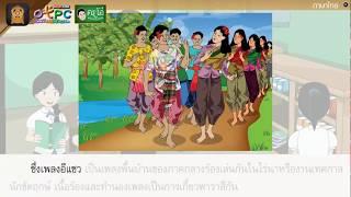 สื่อการเรียนการสอน ครื้นเครงเพลงพื้นบ้าน ป.6 ภาษาไทย