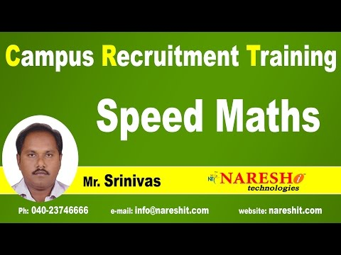 Speed Maths Tricks for Competitive Exams | CRT Training - YouTube