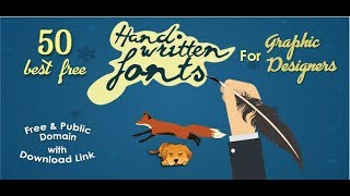 50 Best Free Handwritten Fonts For The Graphic Designers
