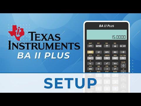 Setting Up the Texas Instruments BA II Financial Calculator (CFA ...