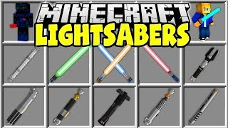 Minecraft LIGHTSABER MOD | CRAFT MINECRAFT LIGHTSABERS AND USE THE FORCE!!