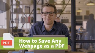 How To Save Any Webpage as a PDF