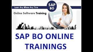 SAP BO 4.2 Training Videos - SAP BO Tutorial for Beginners