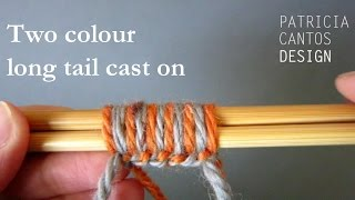 Knitting: two color long tail cast on