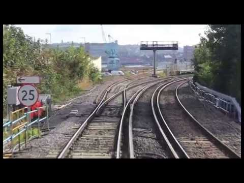 Network Rail Cab ride along Rochester's new railway 10th Oct…