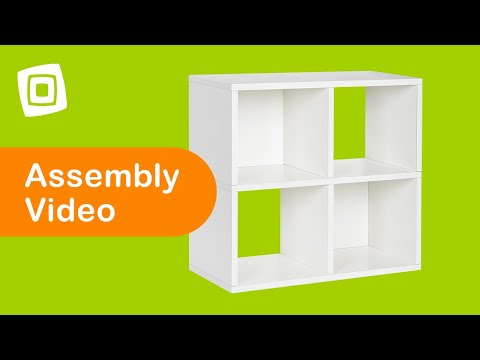 Video for Eco Friendly Espresso Modular Storage Quad Cube