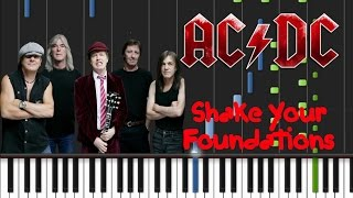 AC/DC - Shake Your Foundations Synthesia Tutorial