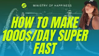 How to Earn  1000$ / A DAY FAST