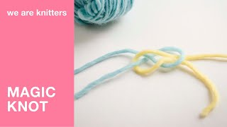 How to make an invisible knot to join two yarn tails | We Are Knitters