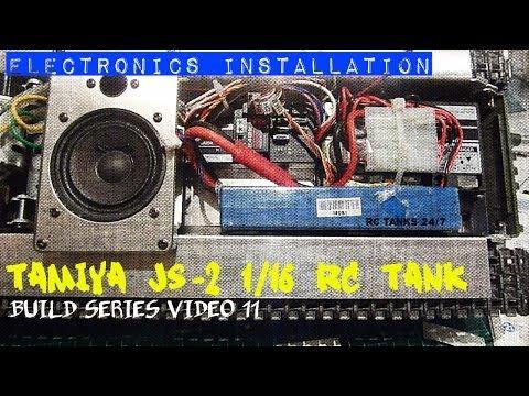 Tamiya JS-2 1/16 RC Tank Driving and Suspension Test HD