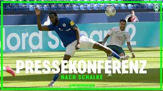 Die Pressekonferenz nach dem 1:0-Sieg von Werder Bremen beim FC Schalke 04 in voller Länge...  ► Abonnieren/Subscribe: http://bit.ly/SUBSCRIBEwerder  WERDER.TV: http://www.werder.de/werdertv Website: http://www.werder.de/ Twitter: https://twitter.com/werderbremen Facebook: https://facebook.com/WerderBremen/ Instagram: https://www.instagram.com/werderbremen/