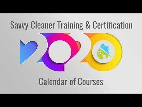 Savvy Cleaner Training with Angela Brown, Calendar of Courses ...
