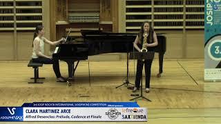 Clara Martinez Arce plays Prelude, Cadence et Finale by Alfred Desenclos