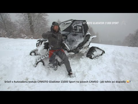 Světová premiéra české kabiny DFK Cab na bugině CF MOTO Gladiator Z1000 Sport s pásy