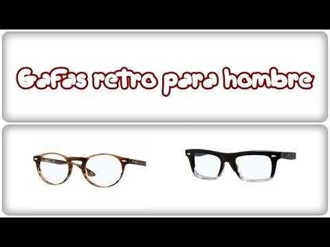 Imágenes de gafas para hombre. Gafas para hombre. Gafas de pasta retro para hombre.