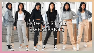 How To Style Sweatpants With My Favorite Basics | Cozy Streetwear Lookbook