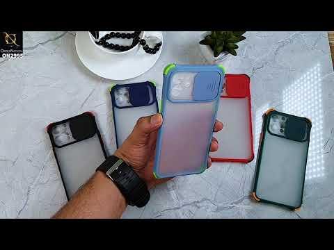 Huawei Y9 Prime 2019 Cover - Dark Green - Shockproof Bumper Color Border Semi Transparent Camera Slide Protection Case