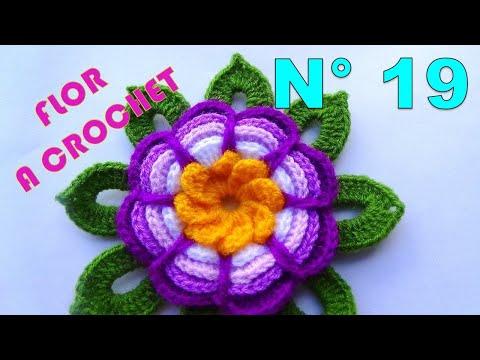 Crochet Emoji Flor Rosita Lila Tejida A Crochet