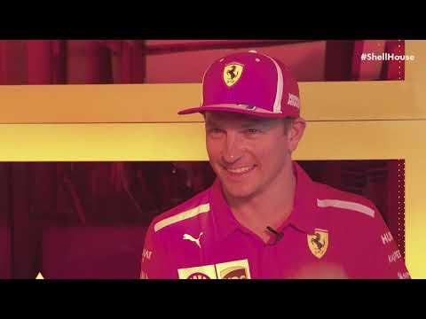 Kimi Raikkonen interview at Shell House in Mexico