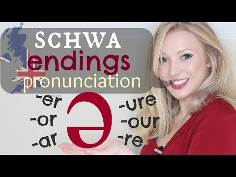 The Schwa /ə/ Sound - Endings British Pronunciation