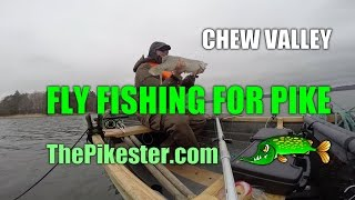 preview picture of video 'Chew Valley Fly Fishing For Pike (3)'