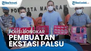 Polresta Mataram Bongkar Pabrik Pil Ekstasi Rumahan, 5 Orang Tersangka Ditangkap