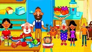 Играем в PEPI HOUSE. СМЕШНОЕ ВИДЕО ДЛЯ ДЕТЕЙ Семейная игра как мультик Pepi House на кухне
