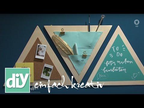 Dreiecks-Organizer mit Ledertasche   DIY einfach kreativ