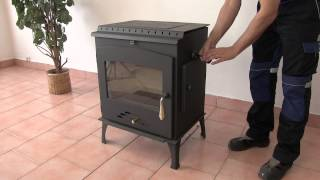 Каминная печь Haas+Sohn Arktic 12 с пластиной , каминофен от компании House heat - видео 3