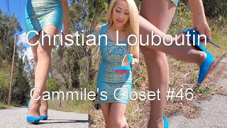 Christian Louboutin So Kate,  Walking In Blue Suede Shoes   Cammiles Closet #46