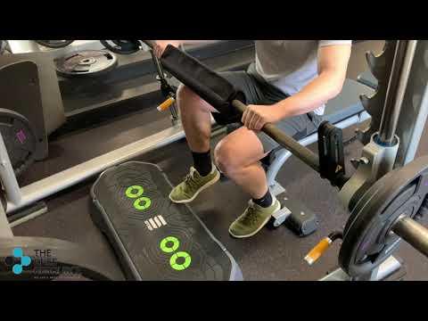 Seated Calf Raise on Smith Machine Single Leg