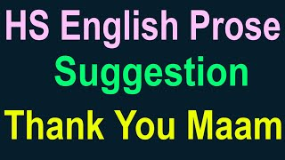 Thank You Maam suggestion, HS English prose suggestion