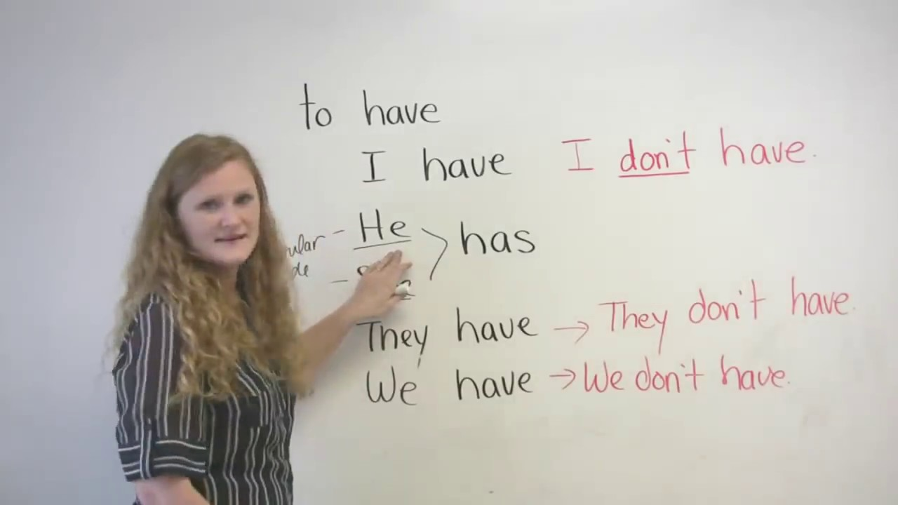 when to use have in a sentence