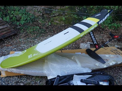 "Fanatic Stubby Foil 8'7"" board & Foil  'First Look'"
