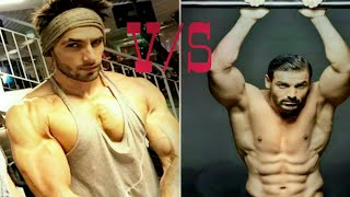 Ranvir Singh VS John Abraham Body Building At A GYM