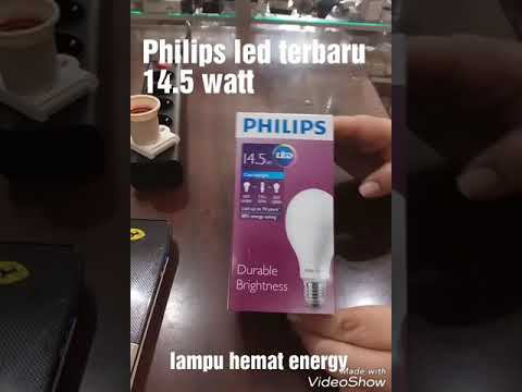 REVIEW LAMPU LED PHILIPS 14,5 WATT LEDBULB E27 COOL DAY LIGHT